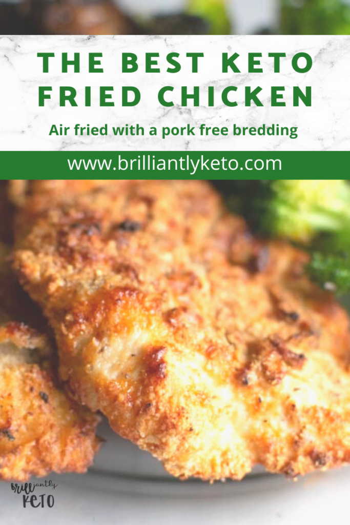 Parmesan Crusted Chicken Easy Air Fryer Recipe Brilliantly Keto